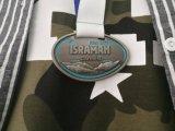 Античный серебр Bespoke медаль отделки с тесемкой
