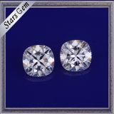 Für immer ein leuchtendes Kissen geschnittener weißer synthetischer Moissanite Diamant für Schmucksachen