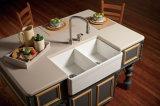 Gabinete de madeira novo personalizado do PVC do gabinete de cozinha do projeto
