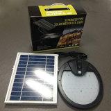 56 indicatore luminoso alimentato solare esterno del sensore di movimento del LED PIR con il connettore di CC ed il comitato solare di External 5W