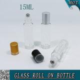 bouteilles en verre de rouleau du cylindre 15ml pour l'espace libre d'huile essentielle
