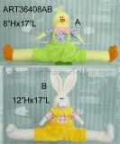 """8 """" Hx17 """" L pollo Separar-Legged Bunny-2asst. - Decoración de Pascua"""