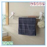 Cremalheira fixada na parede da barra de toalha do banheiro com o copo resistente da sução