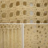Robe tricotée Lace-up blanche de femmes longue