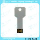 Impermeable de plata de aluminio del metal llave USB de la forma Flash Drive (ZYF1733)