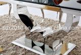 現代食堂Furntiure/ガラスステンレス鋼の長方形のダイニングテーブル