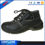 Zapatos de seguridad de acero de los hombres del cuero del casquillo de la punta, calzado Ufc005 de la seguridad