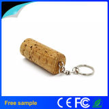 무료 샘플 주문 로고 나무로 되는 코르크 USB 섬광 드라이브 4GB