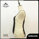 Knitwear урожая пригонки контраста края женщин тонкий