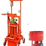 Manuelle mobile Höhlung-Block-Maschinen-Ziegelstein-Maschine des Kleber-Qmr2-45 für Verkauf