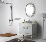 Floor Modern Bathroom Mirrored Cabinet (JN-88926)のステンレス製のSteel Silver