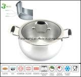 Saucepot pot composé de corps de 3 plis