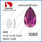 Pujiang Factory Price Flat Back Drop Crystal Sew auf Bead für Dresses Decoration