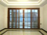 Раздвижные двери двойной застеклять верхнего качества алюминиевые тяжелые (FT-D190)