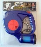 Correo retractable ligero del perro del LED con el dispensador inútil del bolso