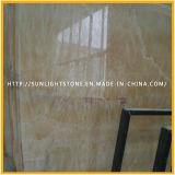 De gele Opgepoetste Tegels van de Muur van de Bevloering van het Onyx van de Honing Marmeren