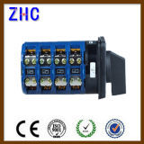 Europeu 20A 25A 30A 40A 50A 63A 1p 2p 3p 4p 7p 10p Posição 1-0-2 Selecionador elétrico Ammeter Selector Changover Cam Rotary Switch