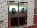 Auto-Return di acciaio inossidabile Swing Door di Steel variopinto con Glass Window