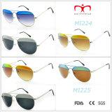 Les plus défuntes lunettes de soleil en métal de conception et de couleur de la mode 2015 (MI224&MI225)