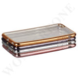 Luxe plaquage Transparent Soft Mobile Phone TPU Case pour iPhone
