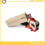 Lecteur flash USB promotionnel de forme de bus de PVC 3D de la coutume 8GB