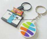 Promotie Zacht pvc Rubber Plastic Keychain van de douane