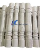 Coluna branca do granito com parte superior para a decoração