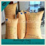 Saco de ar de enchimento vago do material do papel de embalagem de Brown Para o OEM da segurança da pálete