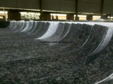 Dessus en gros de vanité de granit de noir de qualité