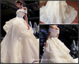 с Organza шнурка мантий шарика плеча платья венчания G17808 Bridal тучного