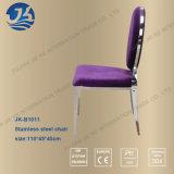 Moderne het Dineren van het Roestvrij staal van het Ontwerp Buitensporige Violette Stoel 45*45*100cm