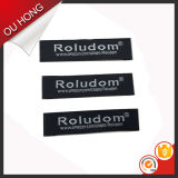 Various su ordinazione Material Denim Fabric Estremità Fold Woven Labels per Jeans Pant