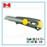 지원 중국제 18mm 실용적인 칼, 절단기, 단 하나 잎 플라스틱 상자 절단기 안전 칼