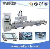 Máquina de processamento de trituração da perfuração da linha central do CNC 3 da parede de cortina de Jinan Parker