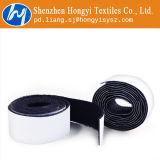 Crochet et boucle auto-adhésifs collants superbes noirs