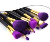 purpurrote kosmetische Qualitäts-natürliche Haar-Verfassungs-Pinsel des Hilfsmittel-15PCS