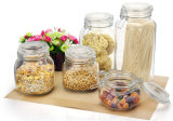 Jar di vetro per Food Candy Metal Ring Glass Jar