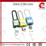 Cadeado longo de nylon Non-Conductive da segurança do corpo do ABS do grilhão