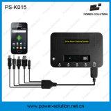 電話充満を用いる再充電可能な携帯用太陽エネルギーのホームライト(PS-K015)
