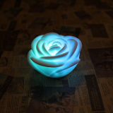 Fiore Shaped Art Color Changing Candle con Romantic Feel