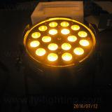 DMX het LEIDENE RGBW van het Stadium 18X10W 4in1 Licht van het PARI met Gezoem