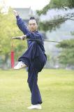 道教の均一高級な長袖のWudang Taiのキーの厚いリネン人