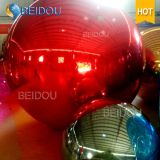 حار بيع زينة الذهب الأزرق البسيطة مرآة بلاستيكية كرات البسيطة ديسكو نفخ مرآة الكرة