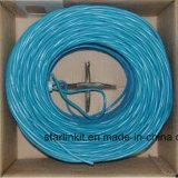 中国は工場価格UTP Cat5e LANケーブル1000FTの青を作った