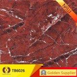 Rote Farben-Marmor-voll polierte glasig-glänzende Porzellan-Fußboden-Fliese (TB6026)
