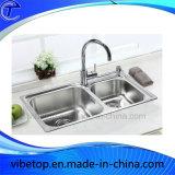 Fregadero de cocina grande de múltiples funciones del acero inoxidable para el precio de fábrica
