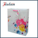 Мешок ежедневного цветастого подарка несущей покупкы бумаги цвета слоновой кости бумажный