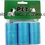 Saco Scented plástico do desperdício do animal de estimação do saco do tombadilho do cão