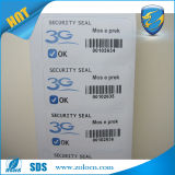 1 Time Use Warranty Void Sticker 또는 Viny Eggshell Sticker