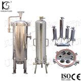 Edelstahl-hohes Fluss-Druck-Wasser-Filtergehäuse